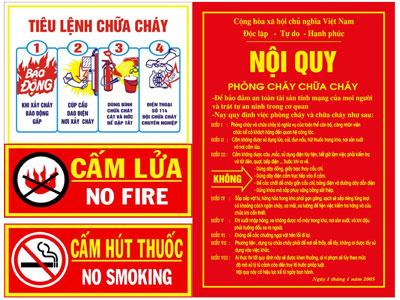 Bộ tiêu lệnh phòng cháy chữa cháy